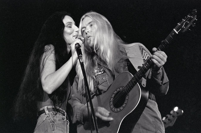"In 1977, Mr. Allman and the singer Cher, who were then married, performed in Brussels on tour for their album, ""Two the Hard Way."" The project was poorly received by critics and the record-buying public alike"